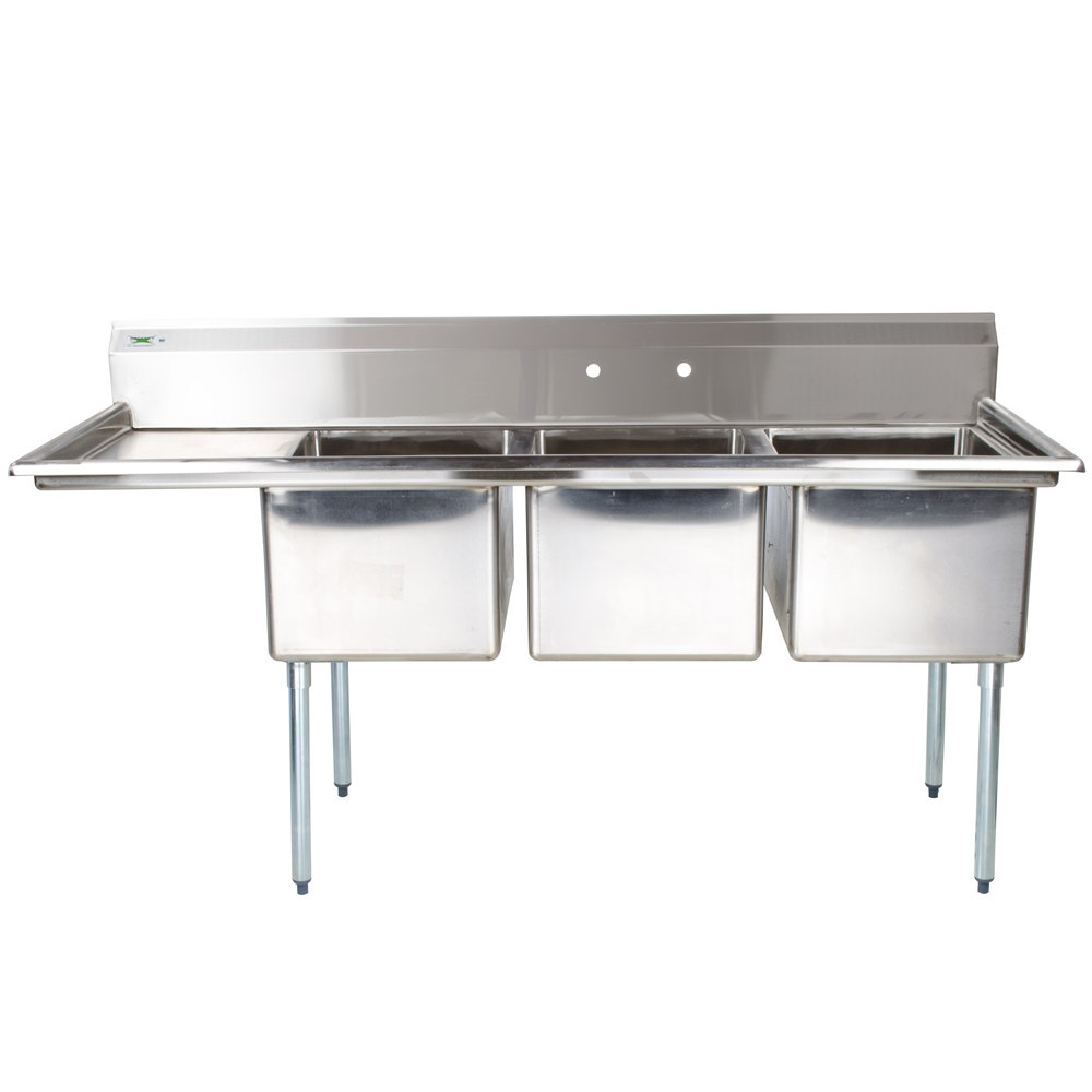 Charmant 3 Bowl Commercial Sink 3 Compartment Sink