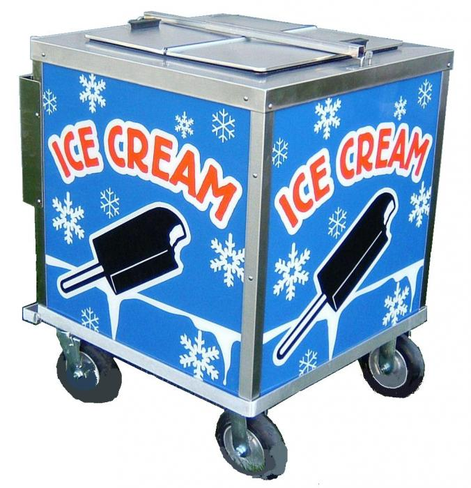nelson ice cream push cart for sale
