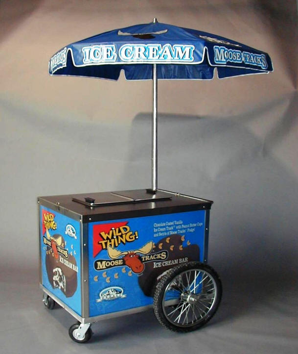 mobile ice cream push cart for sale