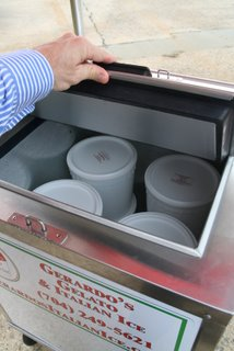 italian ice tubs in cart