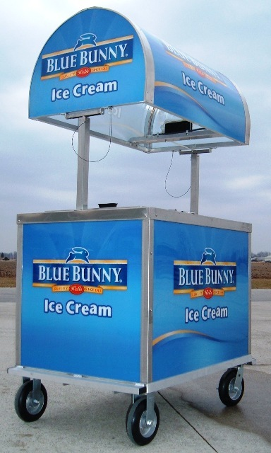 PORTABLE ICE CREAM PUSH CARTS