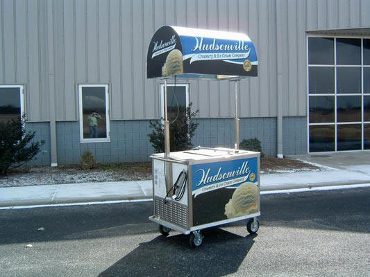 Cold Plate Cart with Canopy
