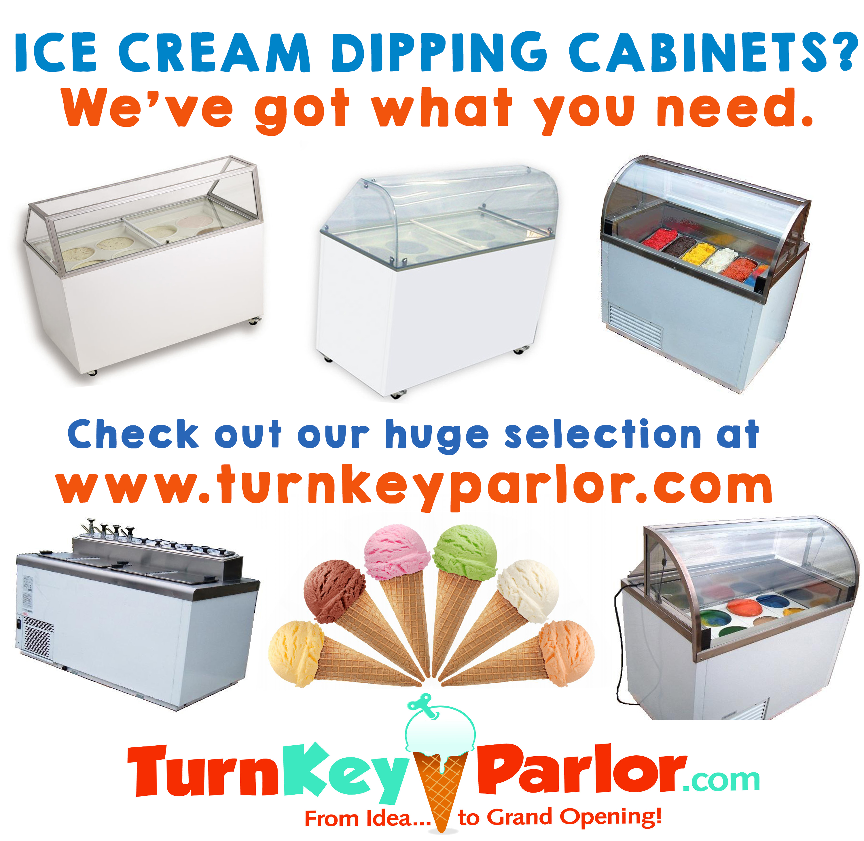 Ice cream Dipping Cabinets for sale