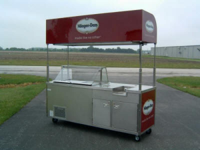 Ice Cream Dipping Cart
