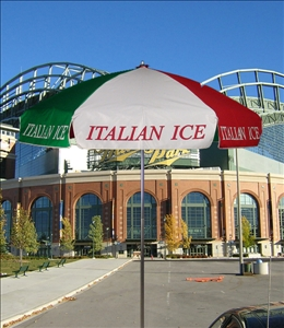 italian ice cart umbrella
