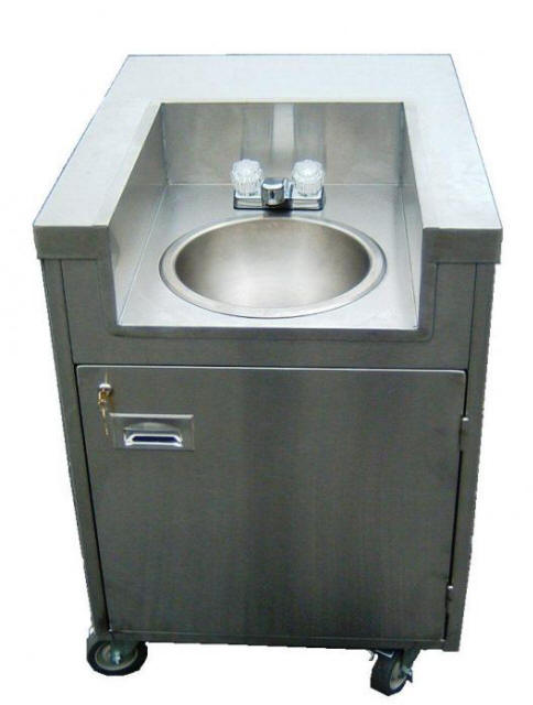 Beau Self Contained Mobile Hand Washing Sink Below