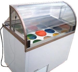 nelson high visibility ice cream dipping cases