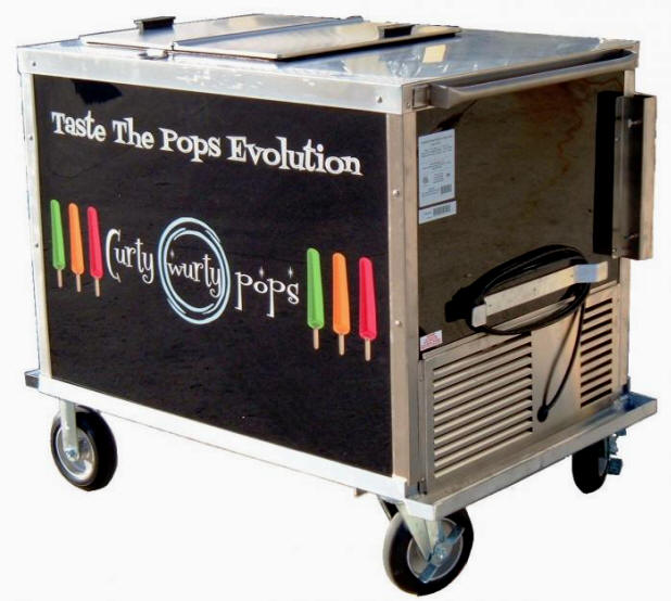 ice cream and Popsicle push cart