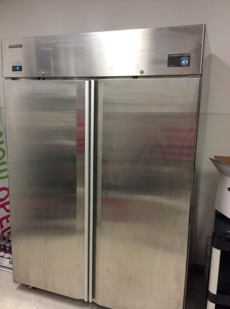 used 2 door stainless freezer