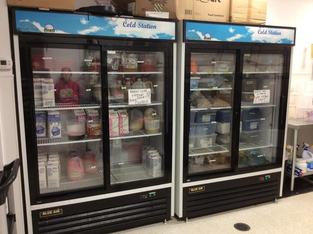 used yogurt store fridge