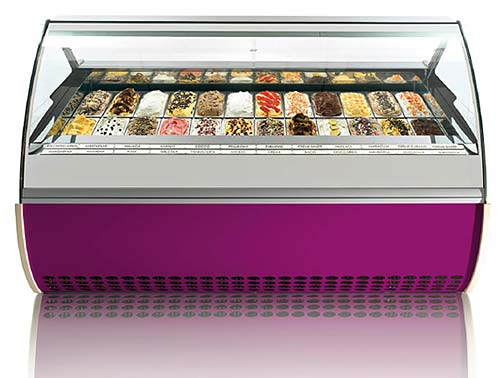 Gelato Display Cases High End