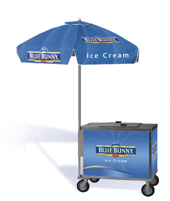 Blue Bunny Push Cart for novelties ice cream push carts for sale